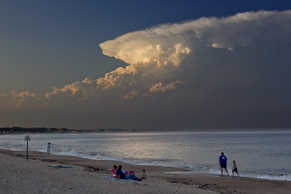 A large cloud formation dominates the sky at Ferry Beach Friday, June 30, 2012, in Saco.