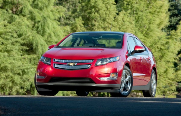 The 2012 Chevrolet Volt extended-range, plug-in hybrid electric car is a midsize four-door hatchback with sharp, appealing styling.