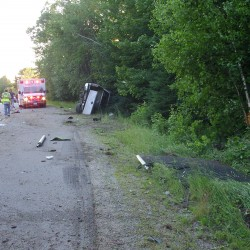 Ambulance attendant crashes while responding to other Vinalhaven crash