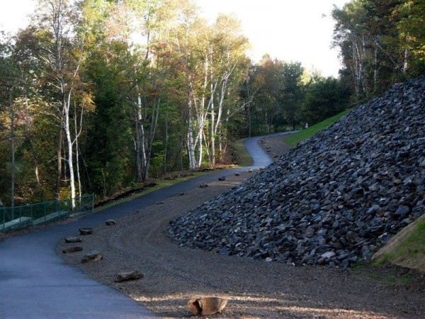 Forest Ave. Entrance to Michaud Walking Path and Multiuse Trail in Millinocket Fall 2011