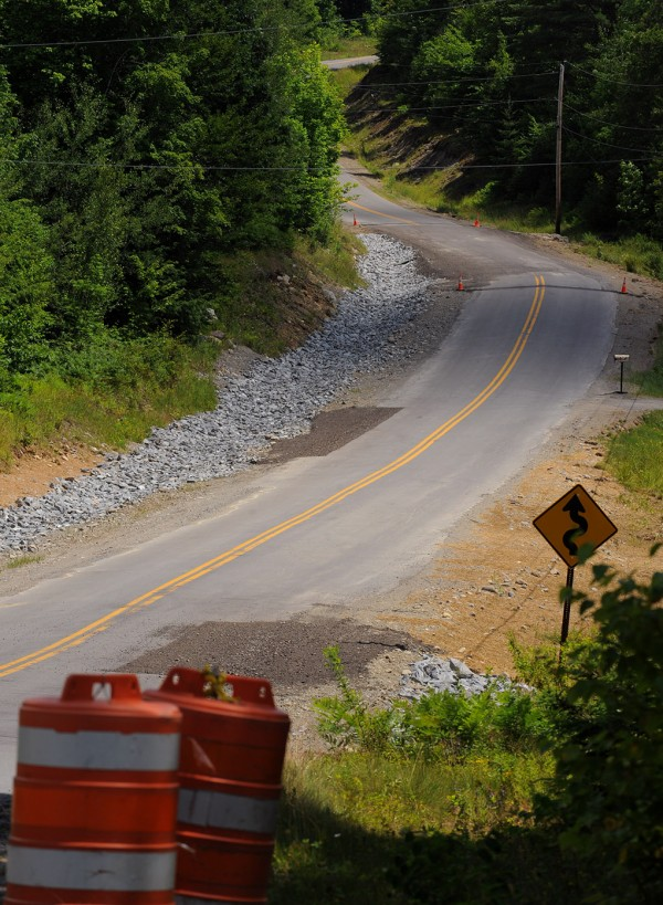 Stickney Hill Road in Brownville was badly damaged in recent flooding. Some repairs have been made but the road still needs to be paved.