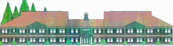 Architectural drawing of Chamberlain Place Senior Housing