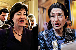 Susan Collins and Olympia Snowe