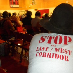 Opponents implore candidates to stop the east-west highway