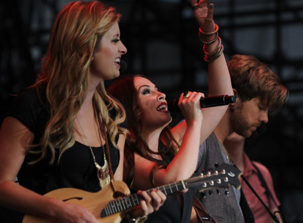 Members of Edens Edge open for Rascal Flats on Friday, July 6, 2012 along the waterfront in Bangor.
