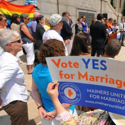 Thousands fill same-sex marriage hearing in Augusta
