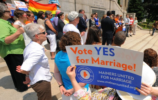 The Mainers United for Marriage held a press conference in Bangor on Wednesday, July 18, 2012. The organization annonced that their coalition has grown to 77 members.