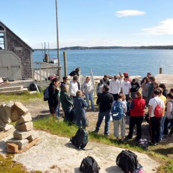 Last June the Hurricane Island Center for Science and Leadership hosted a group of Vinalhaven and North Haven students who learned about social studies and the history of the defunct granite quarrying town.