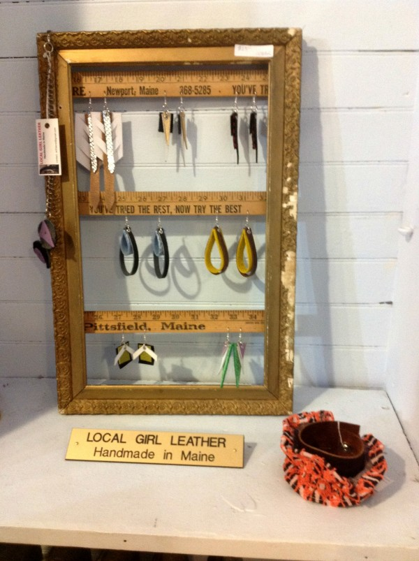 Leather jewelry designed by Emma Thieme, owner of Local Girl Leather.
