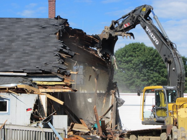 A commercial office building at 47 Park St. in Rockland was demolished Monday, July 2, 2012. Penquis Community Action Program noted the buildings have not been used and presented a liability. There are no plans for the property.