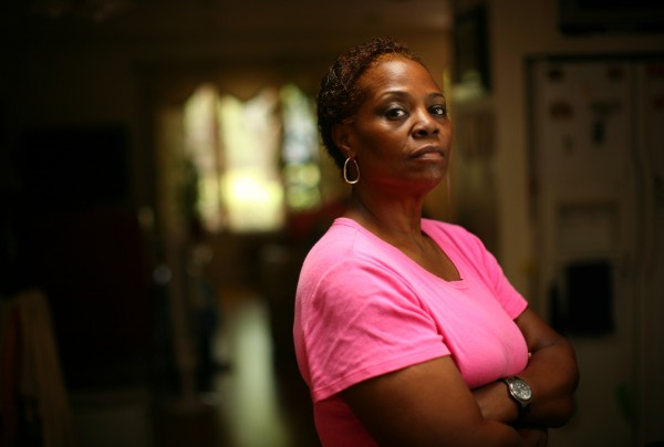 Former teacher Norma Brown on June 5, 2012, in Hazel Crest, Illinois. Brown was diagnosed with post-traumatic stress disorder after the Chicago Public Schools teacher was kicked and punched by a group of students in 2006.