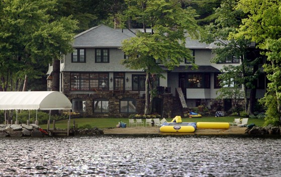 The Romney home on Lake Winnipesaukee