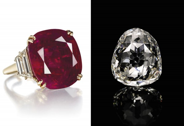 The Burmese ruby of 32-plus carats sold for $6.7 million this spring at Christie's Geneva. The same week, the historic antique royal diamond brought $9.6 million at Sotheby's Geneva.