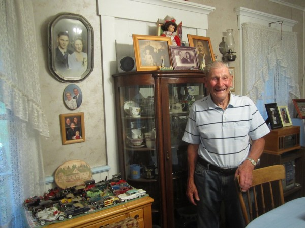 Ralph Ostlund in his home, where he has lived since the 1950s.