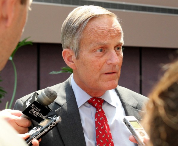 Todd Akin, GOP Senate candidate from Missouri, takes questions recently after speaking at the Missouri Farm Bureau in Jefferson City, Mo.
