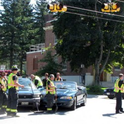 Three injured in two-car crash at Lewiston intersection