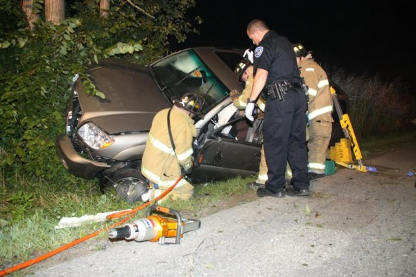 Rockland emergency crews responded to a car crash Wednesday morning on Thomaston Street in Rockland.