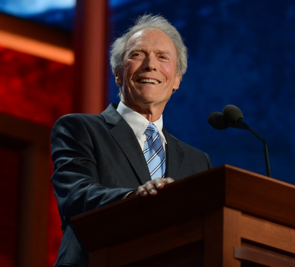 Clint Eastwood speaks to the delegation at the 2012 Republican National Convention in the Tampa Bay Times Forum on Thursday.