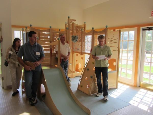 CedarWorks owner Barrett Brown speaks to members of the state's wood products industry.