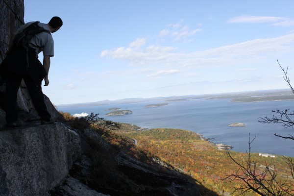 The Precipice Trail is a steep climb of about 1,000 feet up the east face of Champlain Mountain in Acadia National Park.