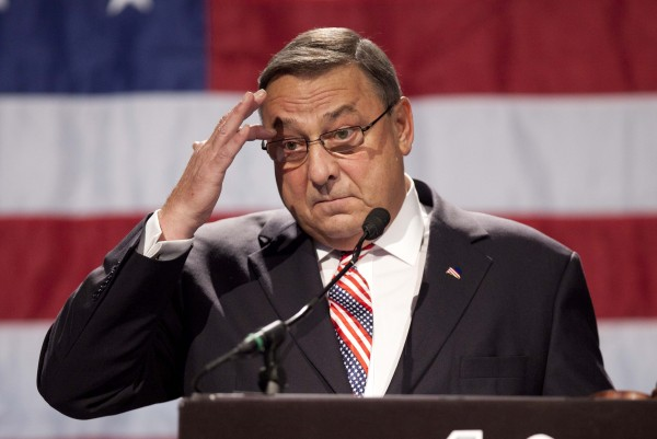 Gov. Paul LePage speaks at the Maine Republican Convention in Augusta in May 2012.