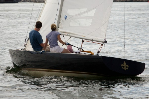 Sailors make their way across Portland Harbor at the MS Harborfest Regatta on Saturday Aug. 18, 2012.