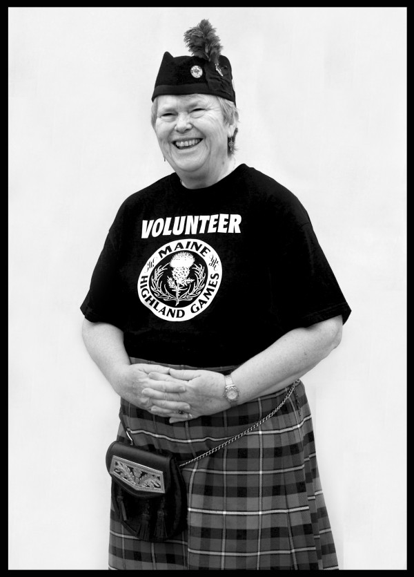 Barb McNally, a summer resident of Bailey Island in Harpswell, has been volunteering at the Highland Games for so long that she's lost track of how many T-shirts are in her collection. As a musician she has performed with the Harp & Thistle Pipe Band, from Florida, and the Celtic Cross, from Peoria, Ill., and twice competed in Scotland.