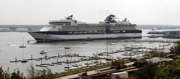 The Celebrity Summit cruise ship uses Pier II, sometimes referred to as the &quotmega berth,&quot while tied up in Portland in September 2011.