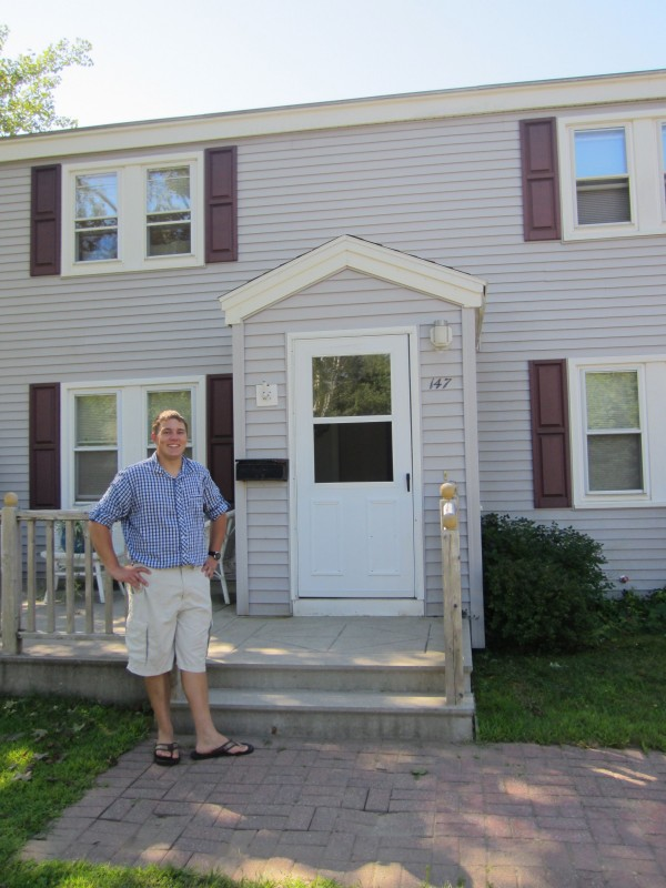 Paul Clark, who with his girlfriend, Cari Peterson, closed on their new home on McKeen Street in June, said that the price of the former Navy housing offered the couple a chance to stay in Brunswick. He''s hopeful the homes will allow more younger people  and local people to afford homes in Brunswick.