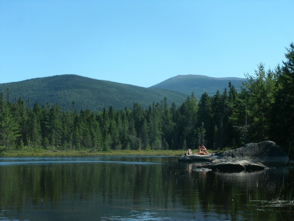 Deep Pond in Baxter State Park where the Maine Youth Wilderness Leadership Program  group took a break and went for a swim in August 2012.