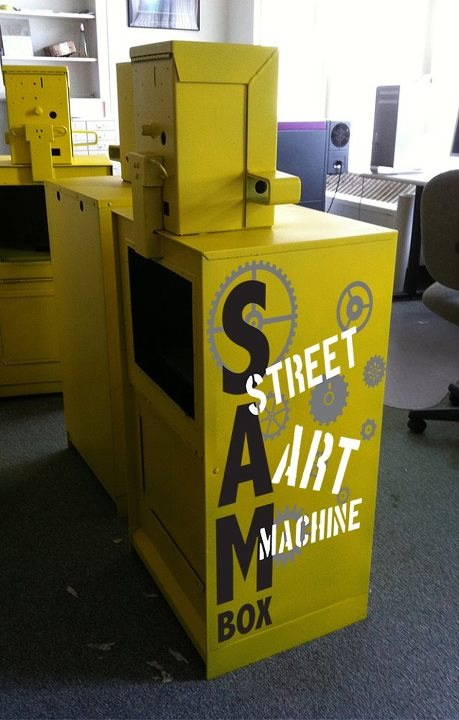 "Kate Dawson is hoping to make ""Street Art Machine Boxes,"" also called ""SAMboxes."""
