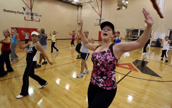 Beth Nunez leads a Zumba class on Oct. 27, 2010, at the Sheinberg Family YMCA of Weston, Fla.