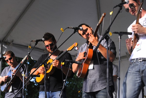 The tamburitza band Otrov performs during the American Folk Festival on Saturday, Aug. 25, 2012, at the Bangor Waterfront.
