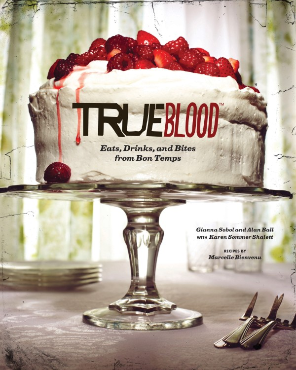 This book cover image released by Chronicle Books shows &quotTrue Blood: East, Drinks, and Bites from Bon Temps,&quot a cookbook with recipes by Marcelle Bienvenu.