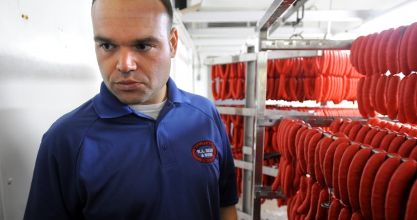 Sean Smith, director of marketing and sales development at the W.A. Bean & Sons, Inc. in Bangor, is seen Aug. 9, 2012.