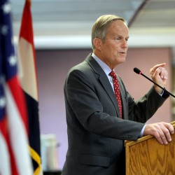 Todd Akin, Republican, candidate for U.S. Senator from Missouri, speaks at the Missouri Farm Bureau candidate interview and endorsement meeting in Jefferson City, Mo., in August 2012. Akin, Missouri''s GOP Senate candidate, questioned whether women can become pregnant when they''re raped on Sunday, Aug. 19, 2012.