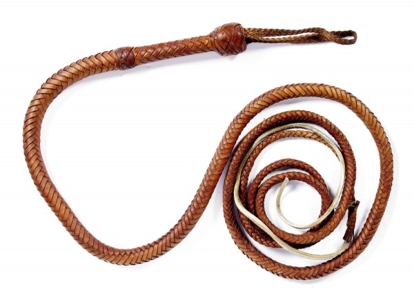 "The Indiana Jones bullwhip from ""Raiders of the Lost Ark"" sold for $31,250 at Bonhams LA this summer."