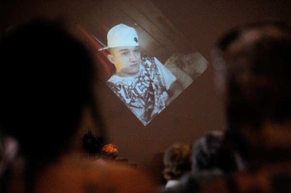 This photo and many others of Daniel T. Borders of Hermon was displayed on a large projection screen during a tribute slide show at his memorial service at Hermon Baptist Church Saturday afternoon, Aug. 25, 2012.