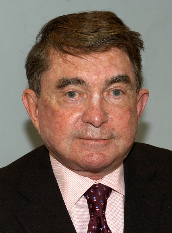 Former Associated Press Board of Directors Chairman Burl Osborne is photographed at New York headquarters in 2006. Osborne died Wednesday, Aug. 15, 2012, at a Dallas hospital after a sudden illness, according to his wife, Betty. He was 75.