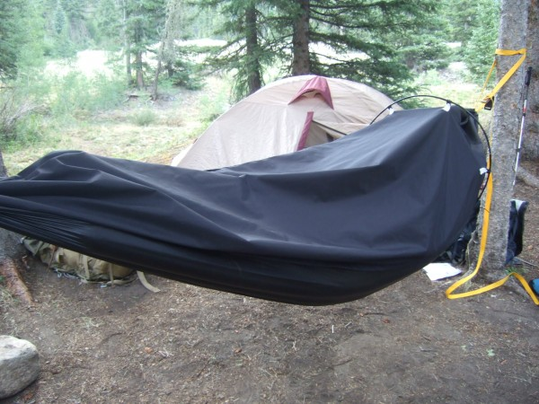 The Alpine Hammock, which was invented by Hampden native Michael Brown and his Tufts University friend Ryan Stolp, is a one-man shelter than can be hung as a hammock or used on the ground as a bivy sack.
