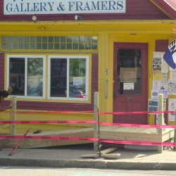Main Street business, Machias officials at odds over ramp