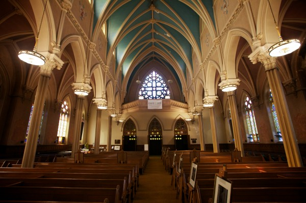 The Irish Heritage Center in Portland received a $20,000 grant from the Quimby Family Foundation toward renovations to the heating plant in the former St. Dominic's Church on State Street. The Church, which houses the center's genealogy records, was once the hub of the city's Irish community.
