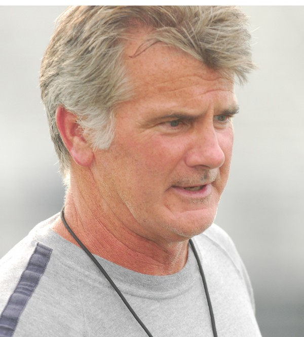 Jack Cosgrove, at University of Maine football practice in Orono on Monday, Aug. 20 2012.