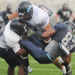 Senior John Ebeling excels in multiple roles for UMaine football team