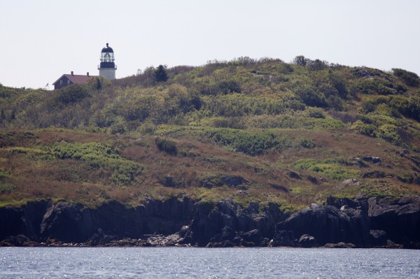 Seguin Island Lighthouse sits atop an island about 1.5 miles south of the mouth of the Kennebec River off Phippsburg.