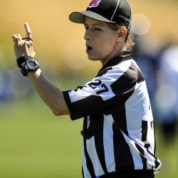 Jim Core referees NFL kickoff with Giants-Dallas