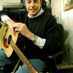 Tim Sample, one of the most successful Maine humorists, sits in his recording studio in Brunswick in February 2006.
