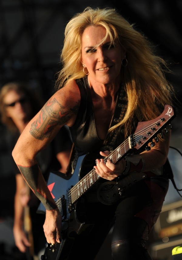 Lita Ford opens for Posion and Def Leppard on the Bangor Waterfront on Wednesday.