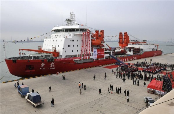 A general view shows Chinese ice breaker ship &quotXuelong&quot, also called &quotSnow Dragon&quot, docking at Tianjin November 3, 2011.