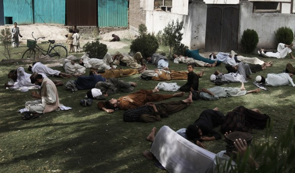 Afghan Muslim men sleep as they wait to break their fast at Mosque in Jalalabad east of Kabul, Afghanistan on Monday, Aug. 13, 2012. Ramadan is the ninth month of the Muslim year that lasts around 30 days, which strict fasting is observed from sunrise to sunset.